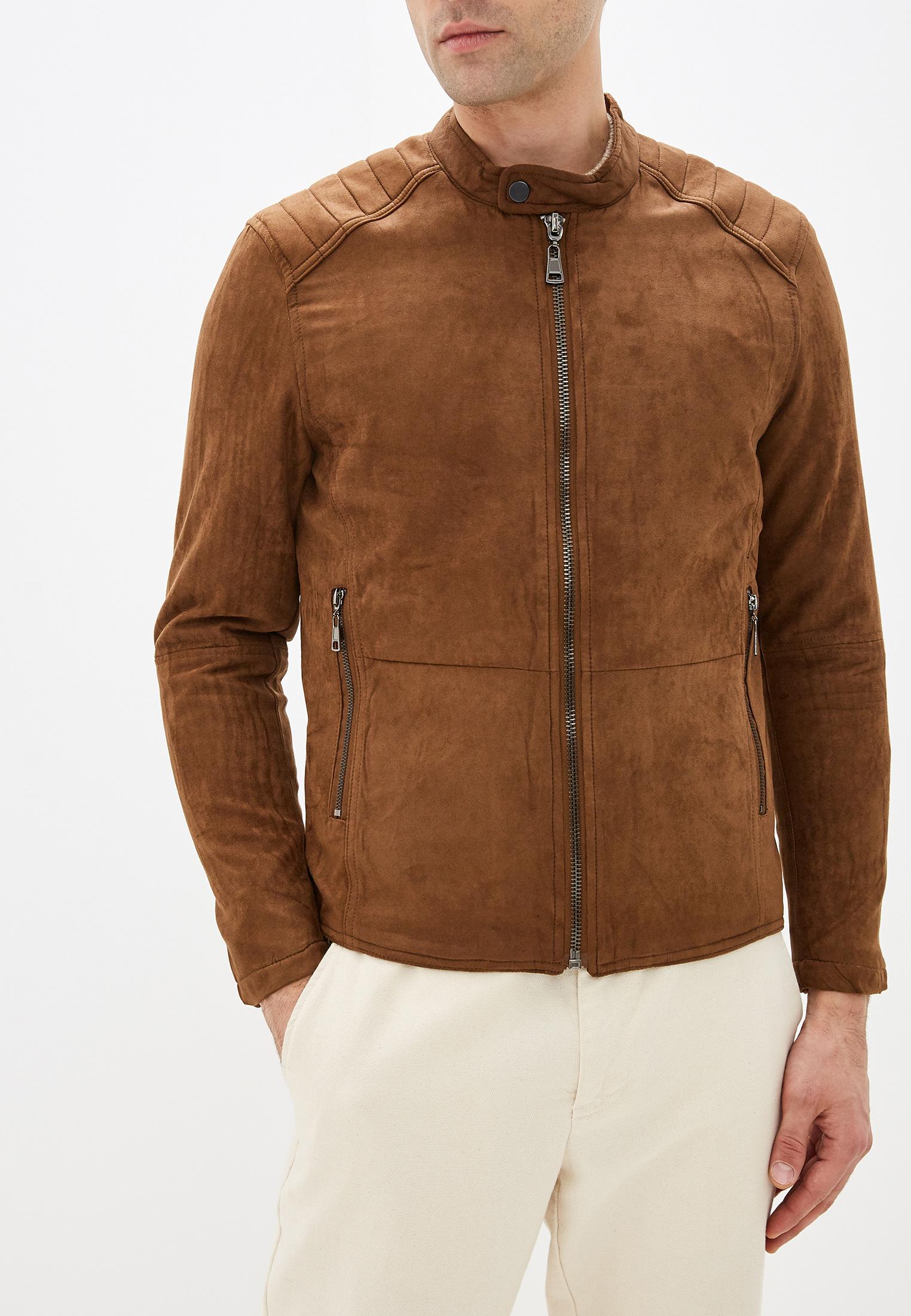 Куртка кожаная, Tony Backer, цвет: коричневый. Артикул: TO043EMHDSC6. Одежда / Верхняя одежда / Кожаные куртки