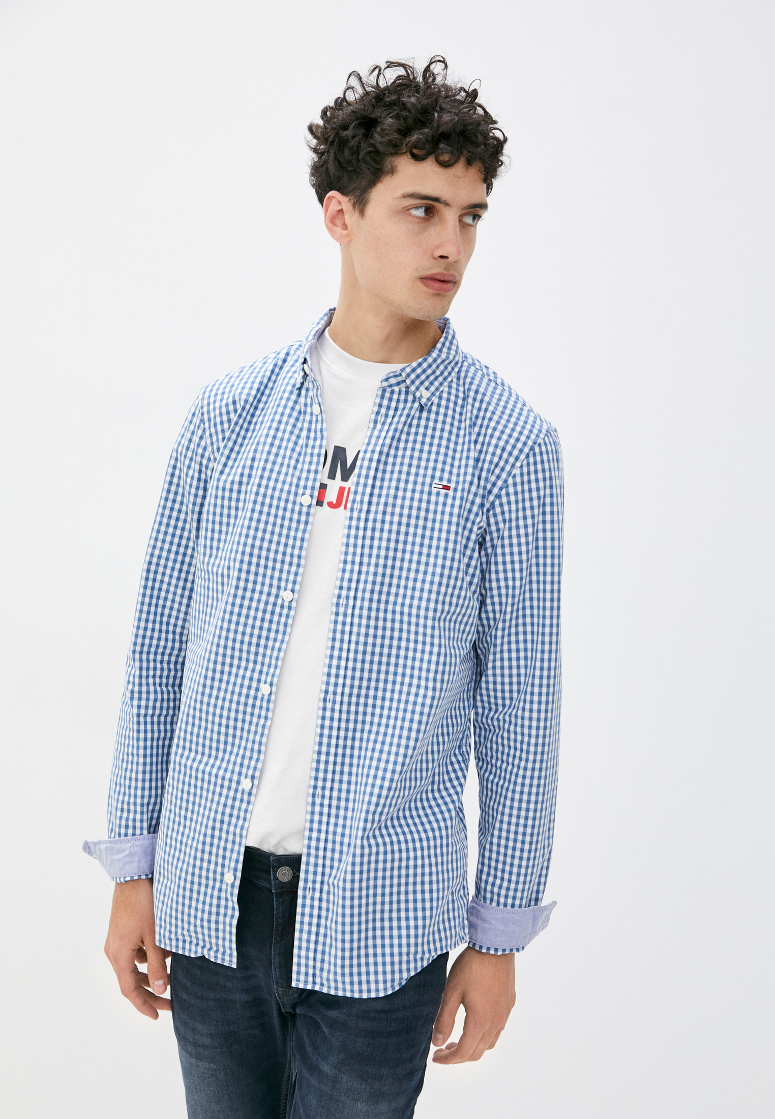 Рубашка Tommy Jeans за 7 490 ₽. в интернет-магазине Lamoda.ru