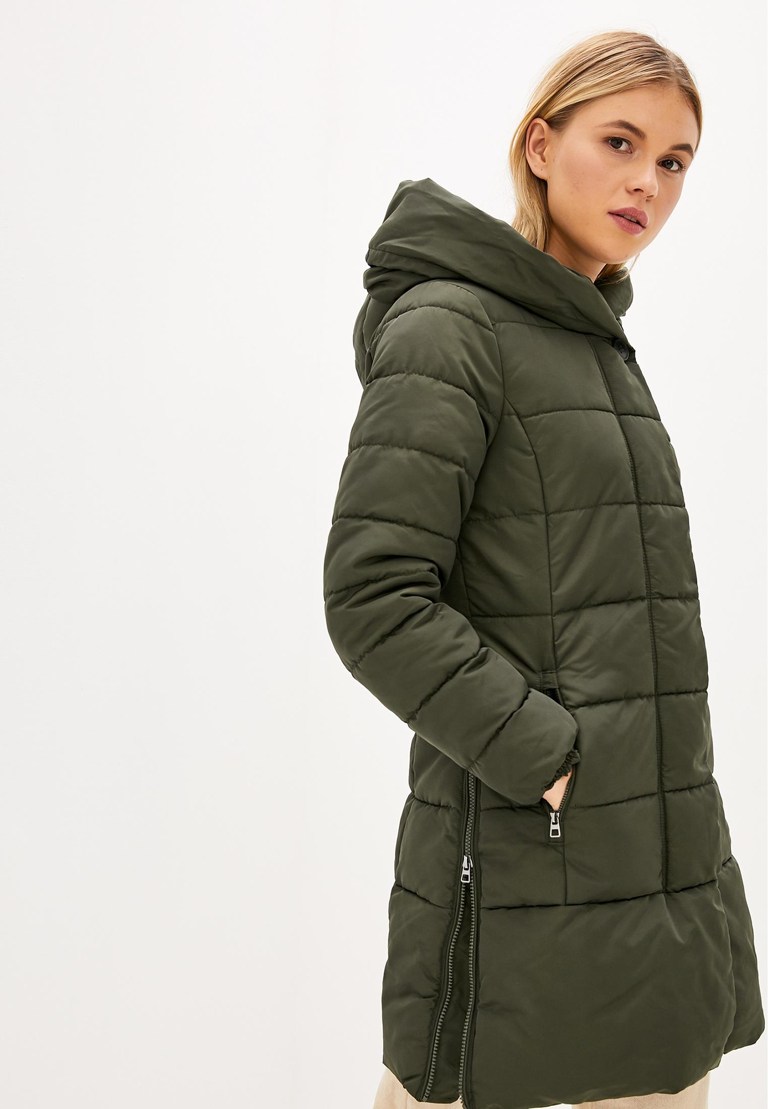 Куртка утепленная, Tom Tailor, цвет: хаки. Артикул: TO172EWGBKQ8. Одежда / Верхняя одежда