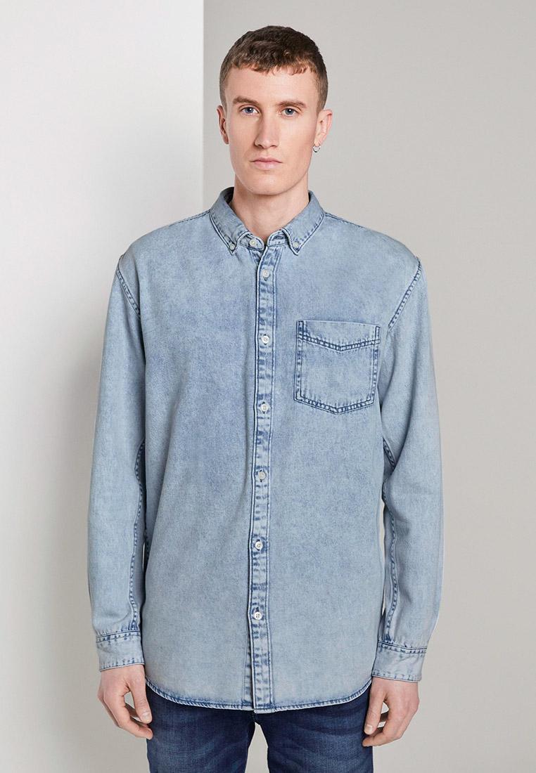 Рубашка джинсовая Tom Tailor Denim за 2 915 ₽. в интернет-магазине Lamoda.ru