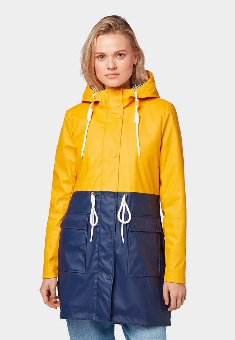 Плащ, Tom Tailor Denim, цвет: желтый. Артикул: TO793EWGBPA8. Одежда