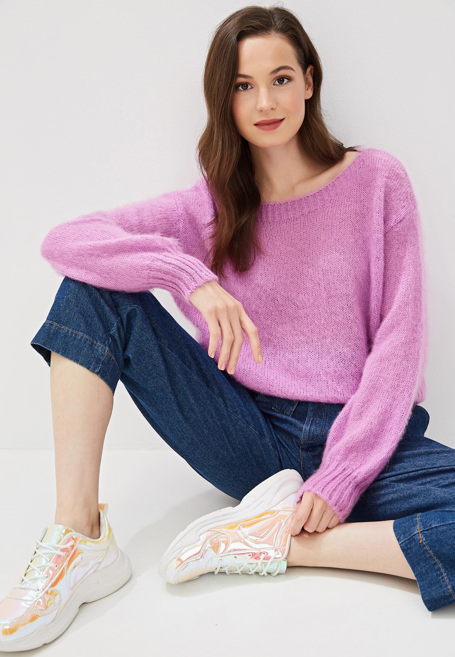 Джемпер, United Colors of Benetton, цвет: фиолетовый. Артикул: UN012EWFUXW4. Одежда / Джемперы, свитеры и кардиганы