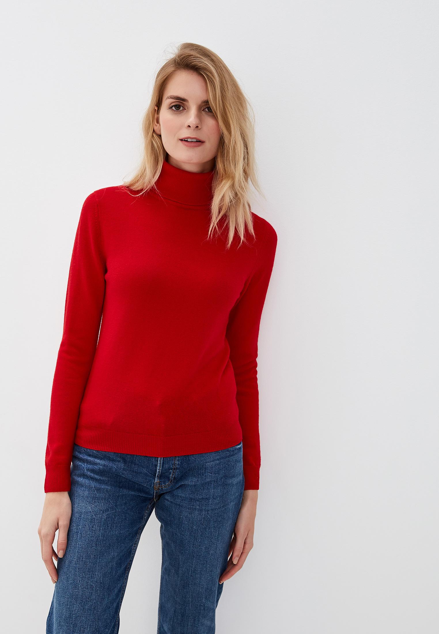 Водолазка, United Colors of Benetton, цвет: красный. Артикул: UN012EWFUYX8. Одежда / Джемперы, свитеры и кардиганы