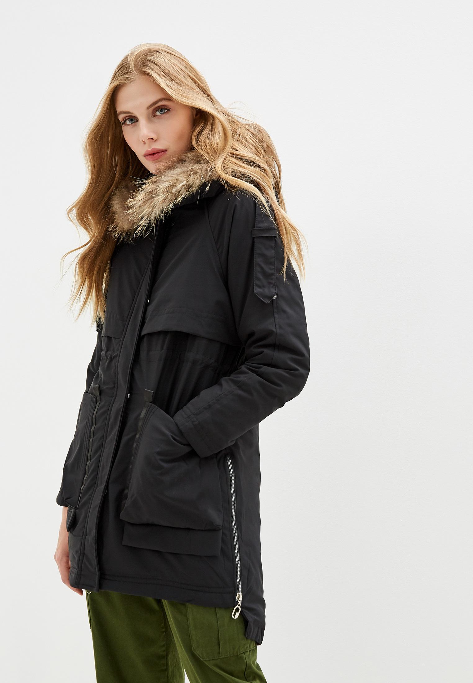 Куртка утепленная, Vagi, цвет: черный. Артикул: VA020EWFDQV8. Одежда / Верхняя одежда / Парки