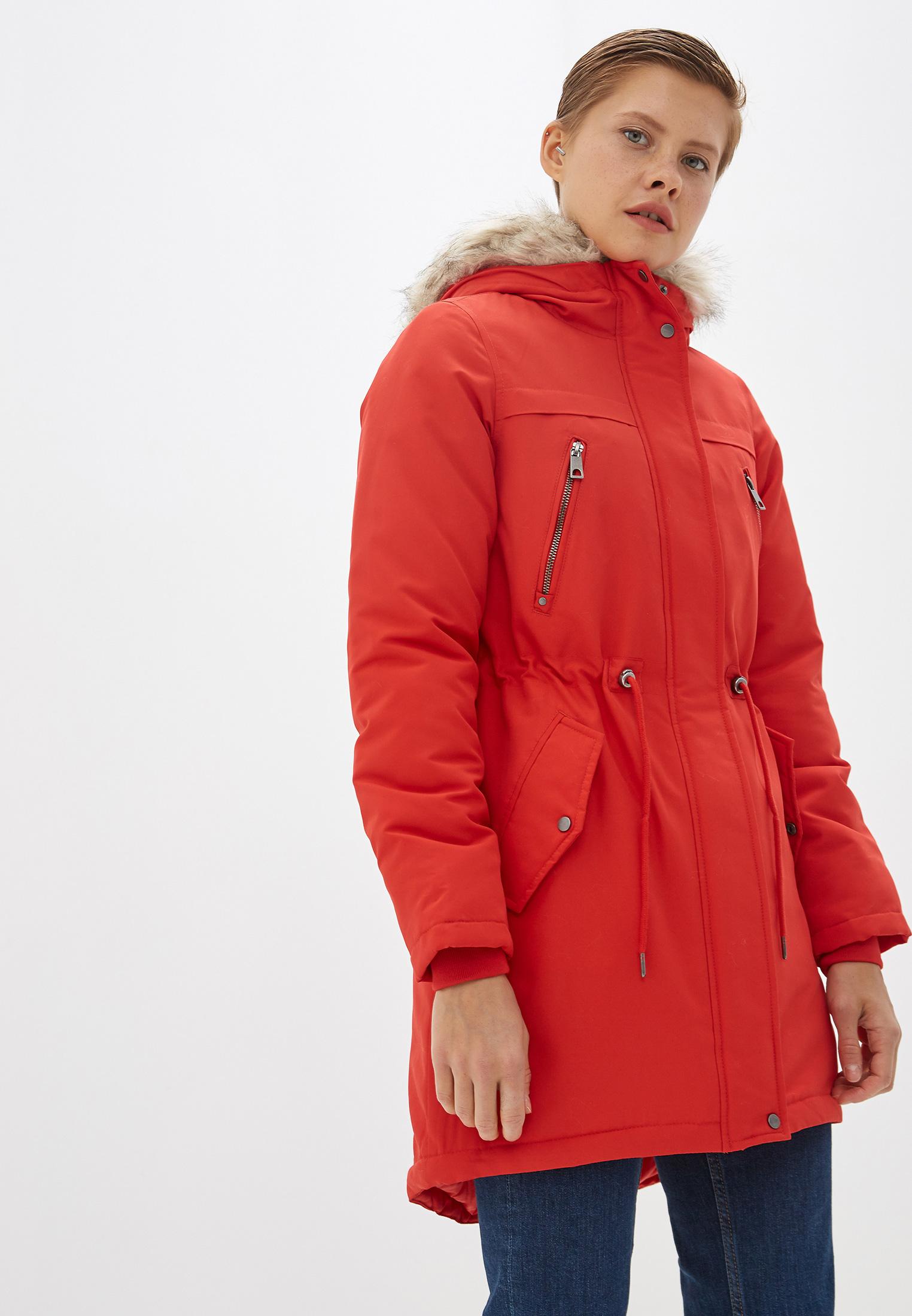 Парка, Vero Moda, цвет: красный. Артикул: VE389EWFIND6. Одежда / Верхняя одежда / Парки