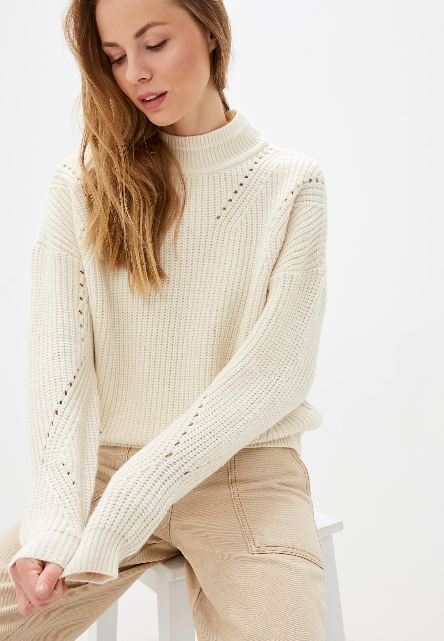 Свитер, Vila, цвет: белый. Артикул: VI004EWFKYA7. Одежда / Джемперы, свитеры и кардиганы