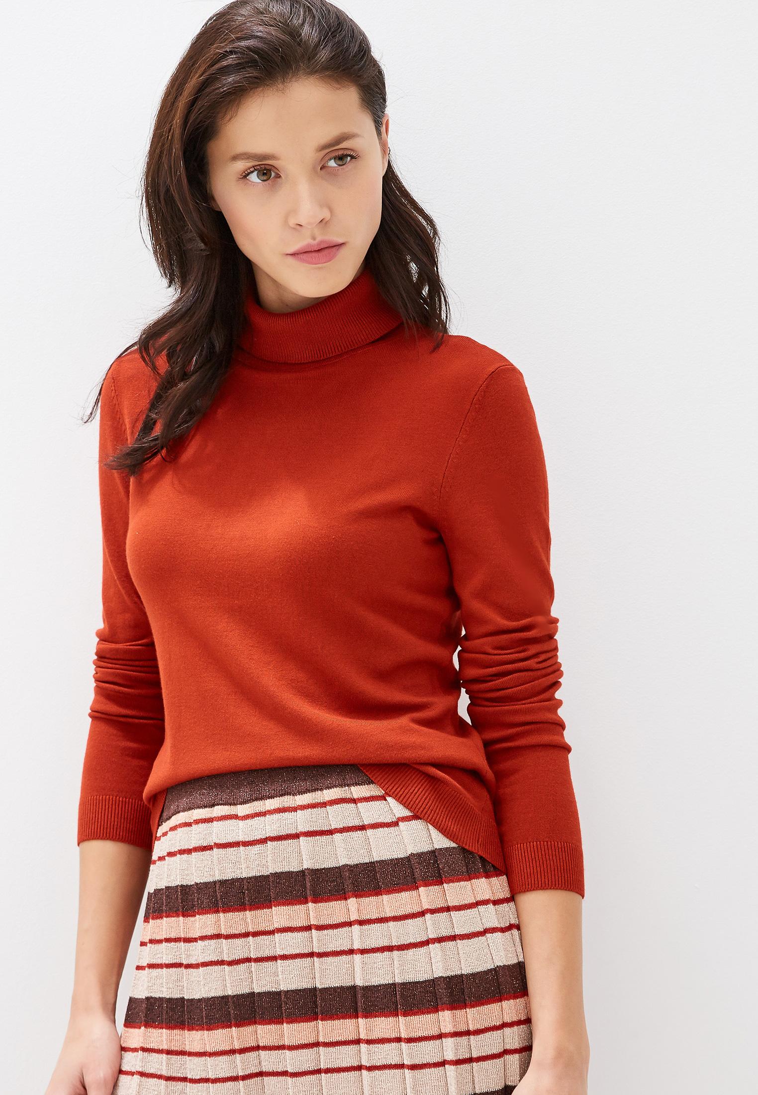 Водолазка, Vila, цвет: красный. Артикул: VI004EWFKYB7. Одежда / Джемперы, свитеры и кардиганы