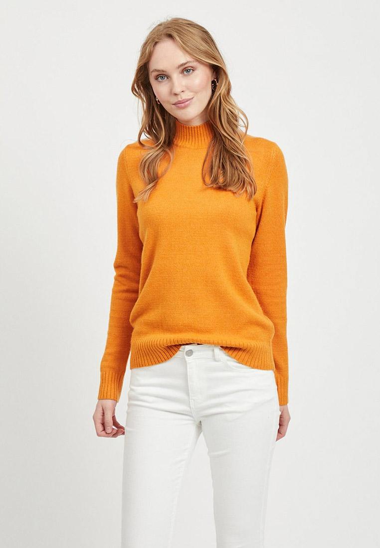 Водолазка, Vila, цвет: желтый. Артикул: VI004EWFKYF5. Одежда / Джемперы, свитеры и кардиганы