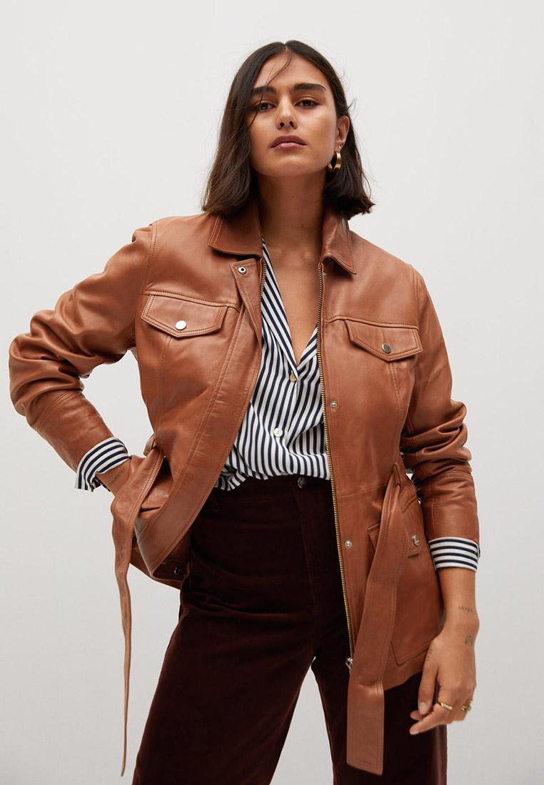 Куртка кожаная Violeta by Mango - ISABEL7 купить за 13 600 ₽ в интернет-магазине Lamoda.ru