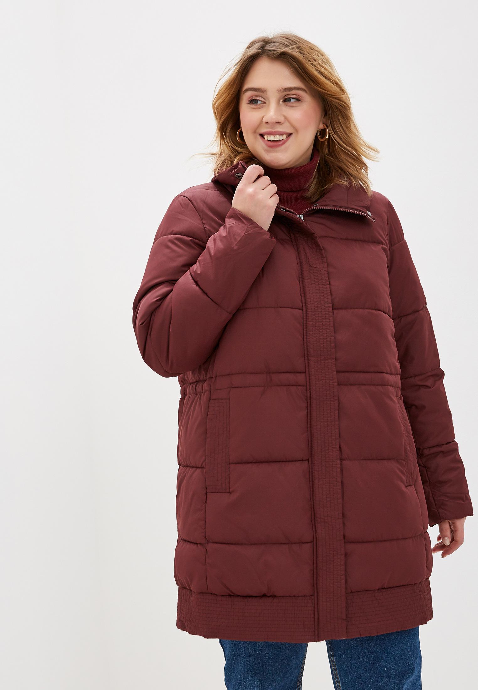 Куртка утепленная, Zizzi, цвет: бордовый. Артикул: ZI007EWFVOK7. Одежда / Верхняя одежда